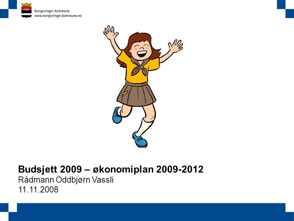 Budsjett 2009 – økonomiplan 2009-2012 Rådmann Oddbjørn Vassli 11.11.2008 Utgifter Inntekter