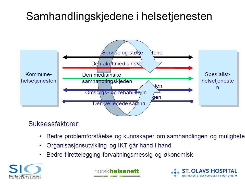 tjenestene kjeden gskjeden ndlingen Samhandlingskjedene i helsetjenesten Bedre problemforståelse og kunnskaper om samhandlingen og muligheter Organisa