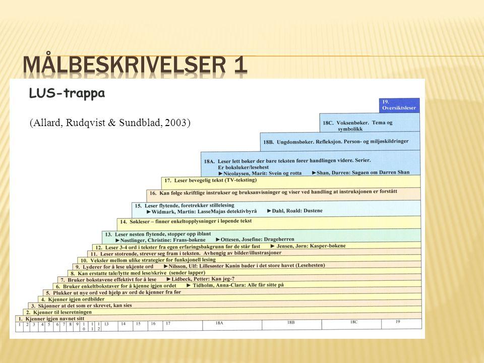 (Allard, Rudqvist & Sundblad, 2003)