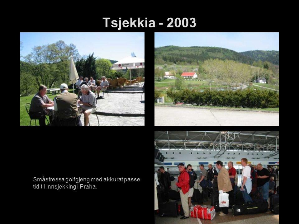 Tsjekkia - 2003 Småstressa golfgjeng med akkurat passe tid til innsjekking i Praha.