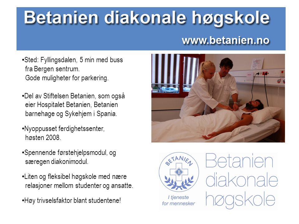 Sted: Fyllingsdalen, 5 min med buss fra Bergen sentrum.