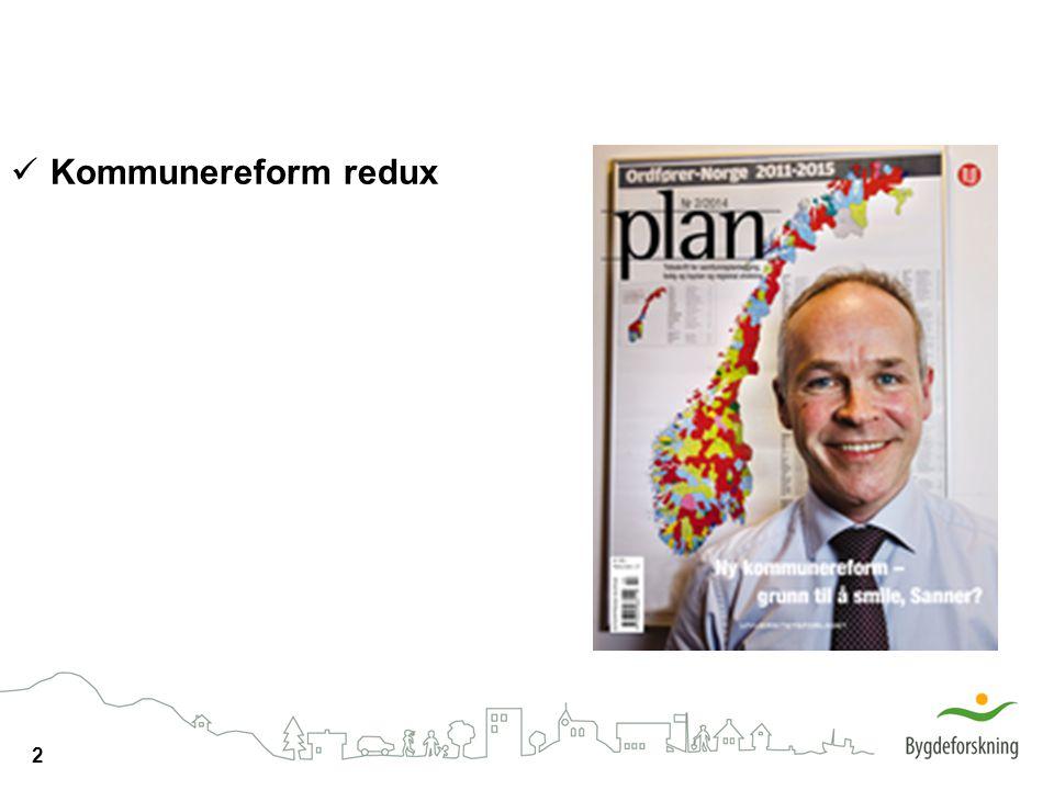 2 Kommunereform redux