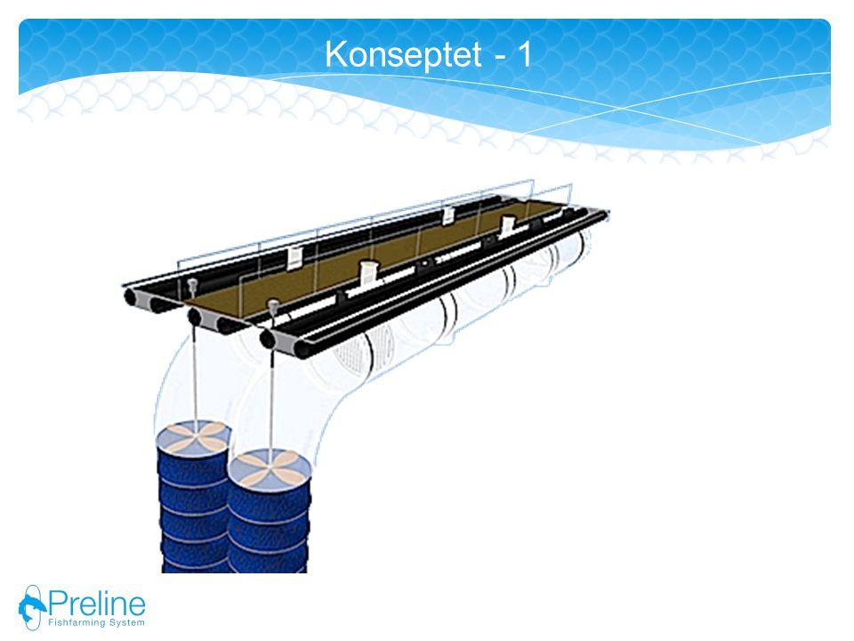 Lukket oppdrett basert på rør Vanngjennomstrømming ved hjelp av strømsettere.