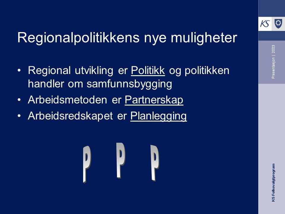 KS Folkevalgtprogram Presentasjon | 2003 For at partnerskap ikke skal bli en situasjon som er avhengig av enkeltpersoner må det utvikles – kjøreregler