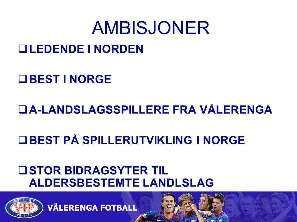 Kamparena Treningskamper Hafslundcup Haslumcup Skjettencup Seriespill Norwaycup