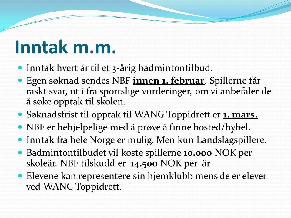 Kontakt Info Johnny Askevig, Norges Badminton Forbund tlf.