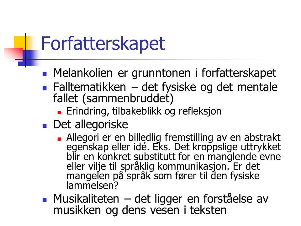 Presentasjon av Kunsten å gå Narrasjon: Jeg-fortellerens indre monolog og erindring.
