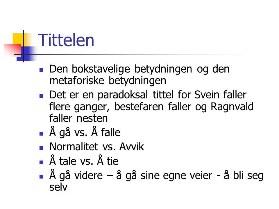 Noen mulige innfallsvinkler Fall: Det konkrete fallet – Svein faller flere ganger.