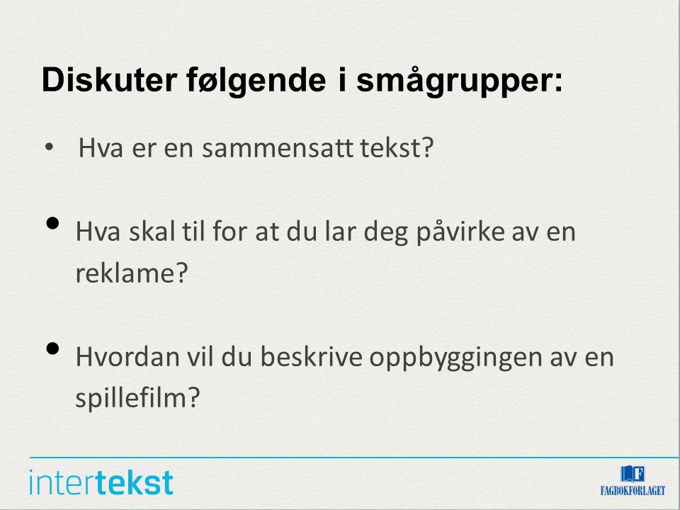 1f436747 Kapittel 7 Analyse Å analysere sammensatte tekster bilde – film ...