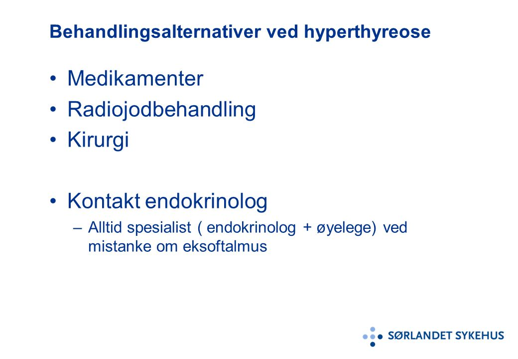 hyperthyreose behandling
