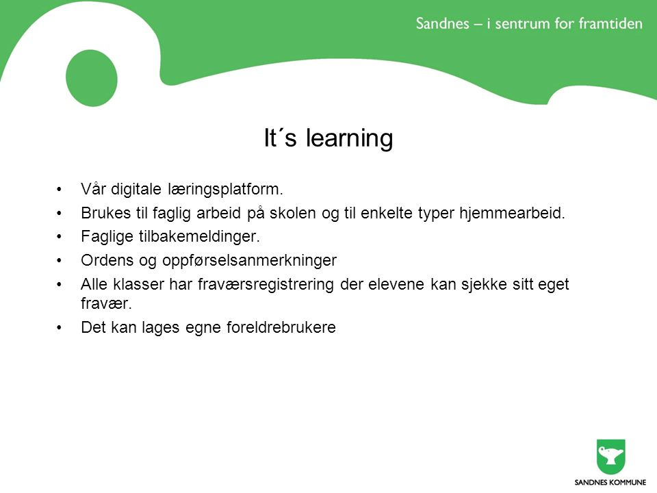 It´s learning Vår digitale læringsplatform.
