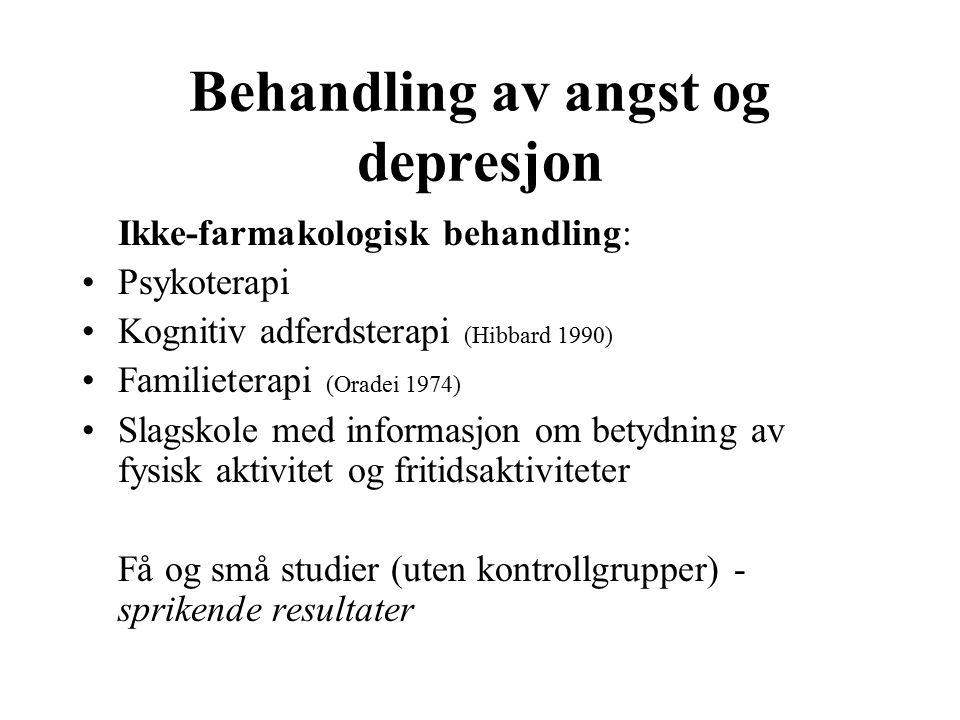 angst og depresjon symptomer