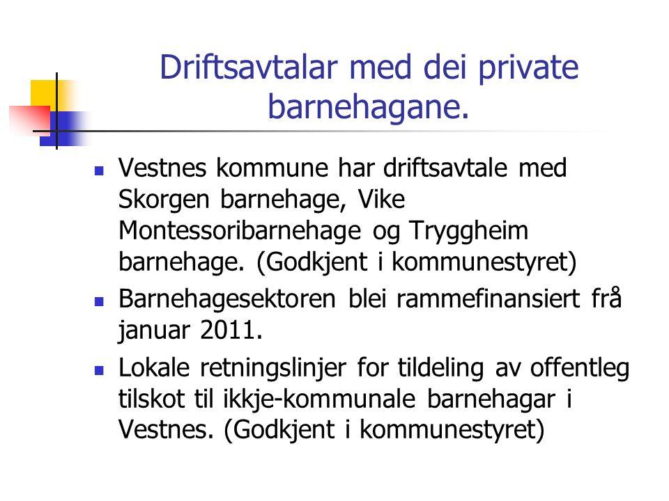 7d281635 6 Driftsavtalar med dei private barnehagane. Vestnes kommune har  driftsavtale med Skorgen barnehage ...