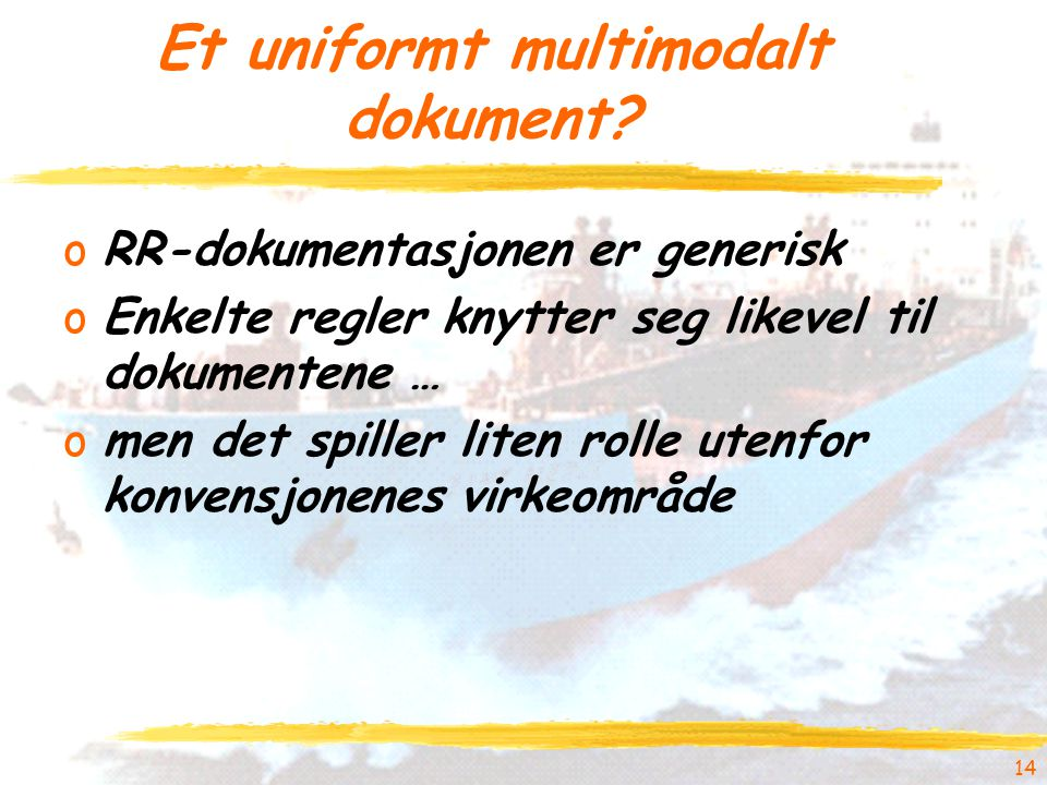 Et uniformt multimodalt dokument.