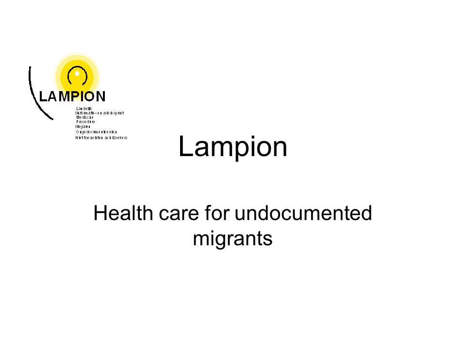 Lampion Health care for undocumented migrants