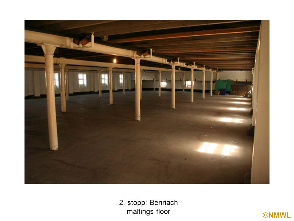 ©NMWL 2. stopp: Benriach maltings floor