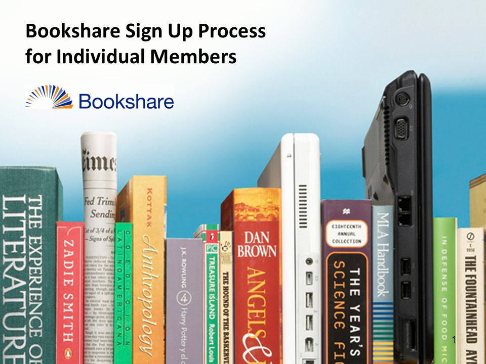 1 Bookshare Sign Up Process for Individual Members