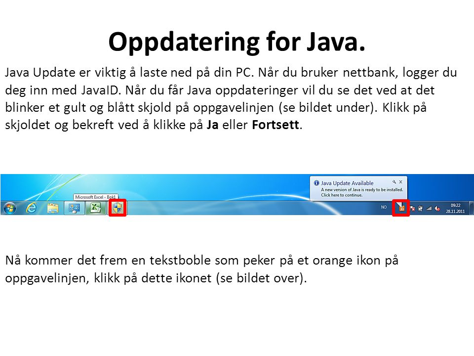 Oppdatering for Java. Java Update er viktig å laste ned på din PC.