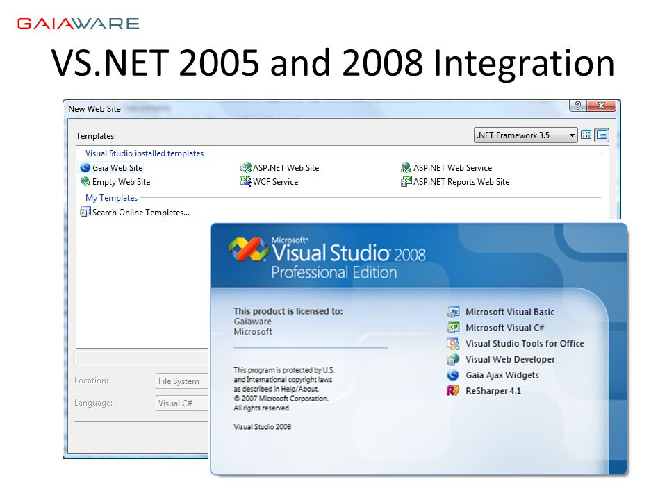 VS.NET 2005 and 2008 Integration