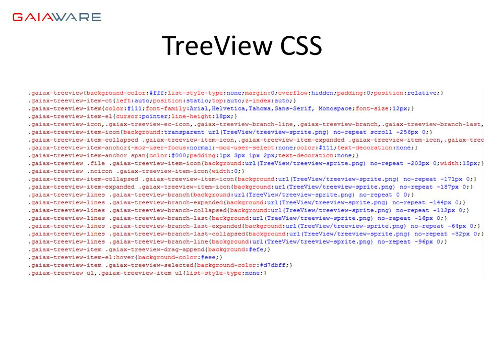 TreeView CSS