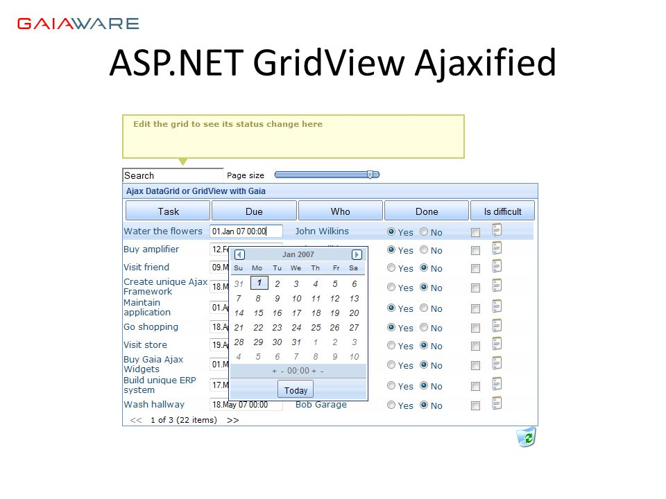 ASP.NET GridView Ajaxified