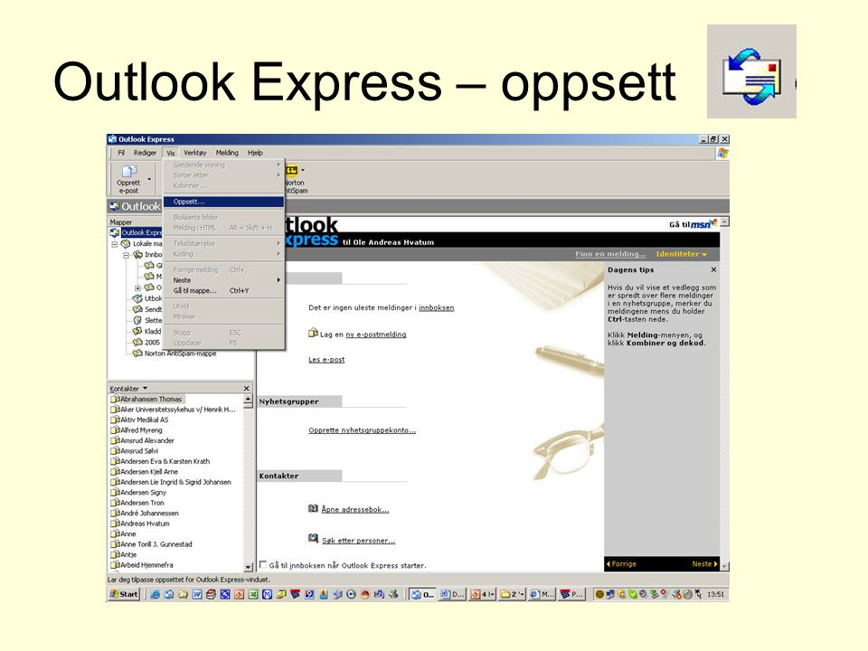 Outlook Express – oppsett