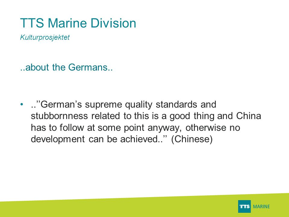 TTS Marine Division..about the Germans..